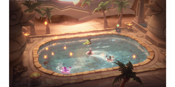 Four bros, chillin' in a hot tub...