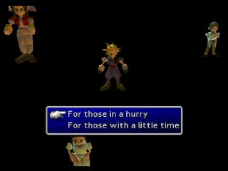 Final Fantasy VII/Debug Room - The Cutting Room Floor