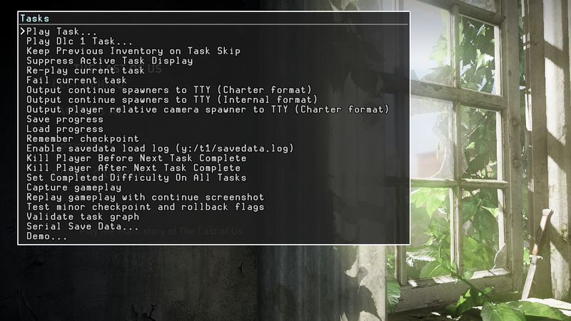 TheLastOfUs PS3-Devmenu-tasks.png