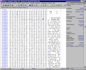 Hex editor - The Cutting Room Floor