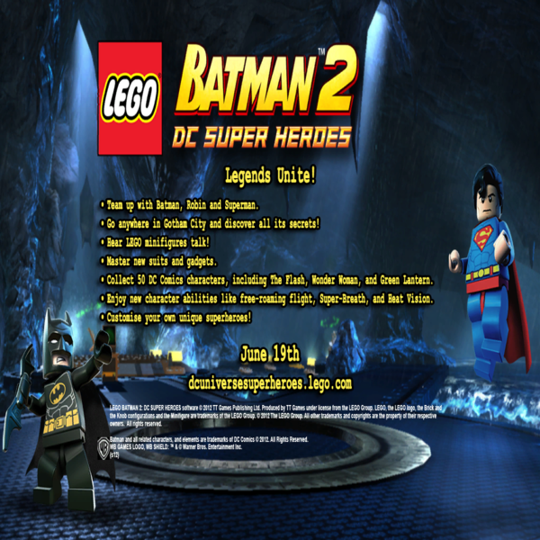 Lego Batman 2 Dc Super Heroes Windows Wii The Cutting Room Floor