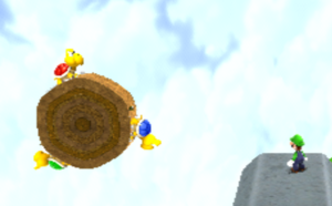 The 3 Mega Koopa Troopas from Supermassive Galaxy, with the unused Red and Blue variations.