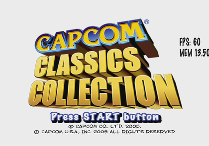 CapcomClassicsCollection1 - DebugmodeFPS.png
