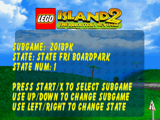 Lego Island 2 PSX LevelSelect.PNG