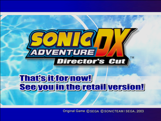 Sonic Adventure DX (PC, 2004) Trial End.png