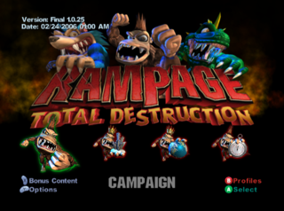 Rampage Total Destruction The Cutting Room Floor