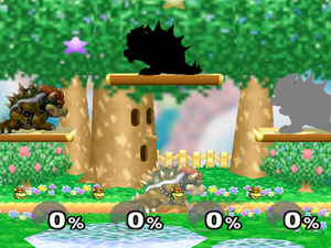 4 different shades of Bowser. Going clockwise: 3, 4, 1, 2