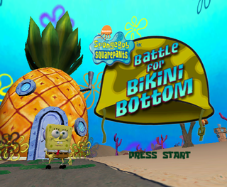 Battle bikini bottom ps2 spongebob through walk