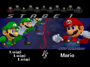 Luigi: It's-a payback time-a bro! Mario: How did you-a do that?