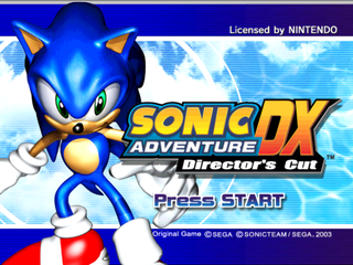 Sonic Adventure DX Director's Cut (GameCube)-title.png