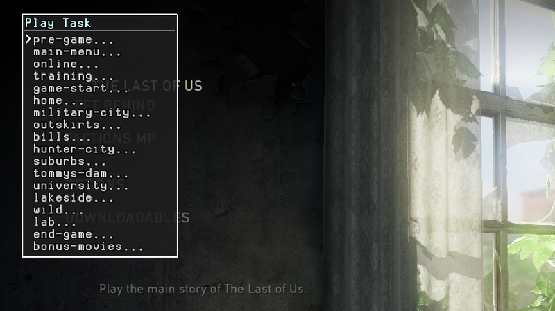 TheLastOfUs PS3-Devmenu-tasks-selecttask.png