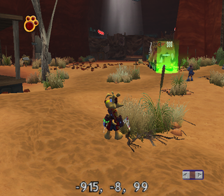 Ty the Tasmanian Tiger 3 Night of the Quinkan GameCube Coordinate Display.png