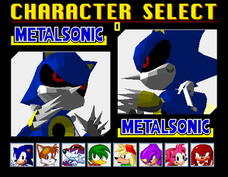 Metal Sonic character select